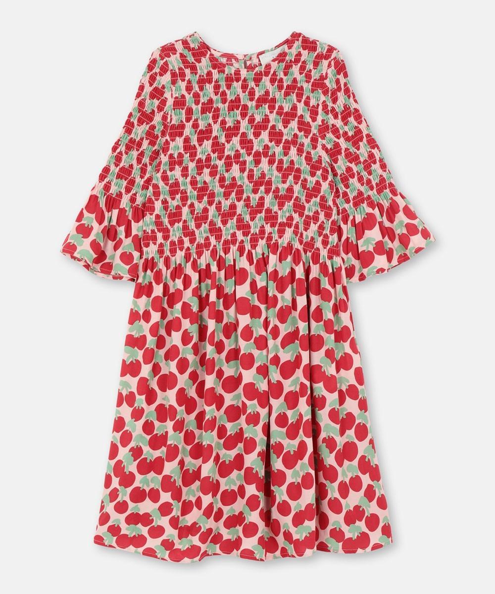 CHERRY SMOCK DRESS