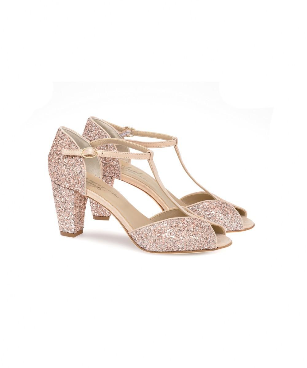 Glitter Butterfly Heel Shoe