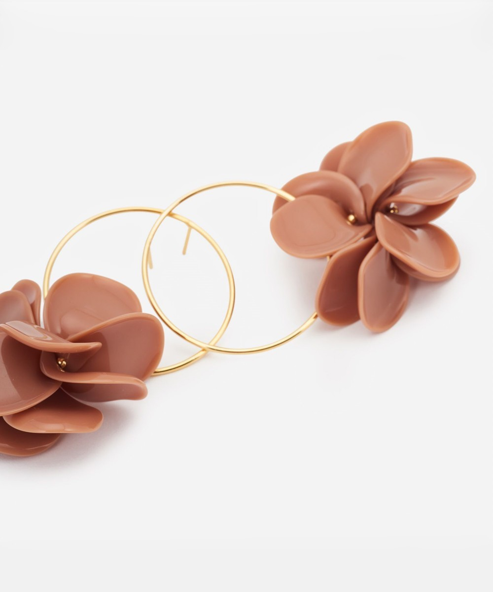Petalos Big Hoop Earrings