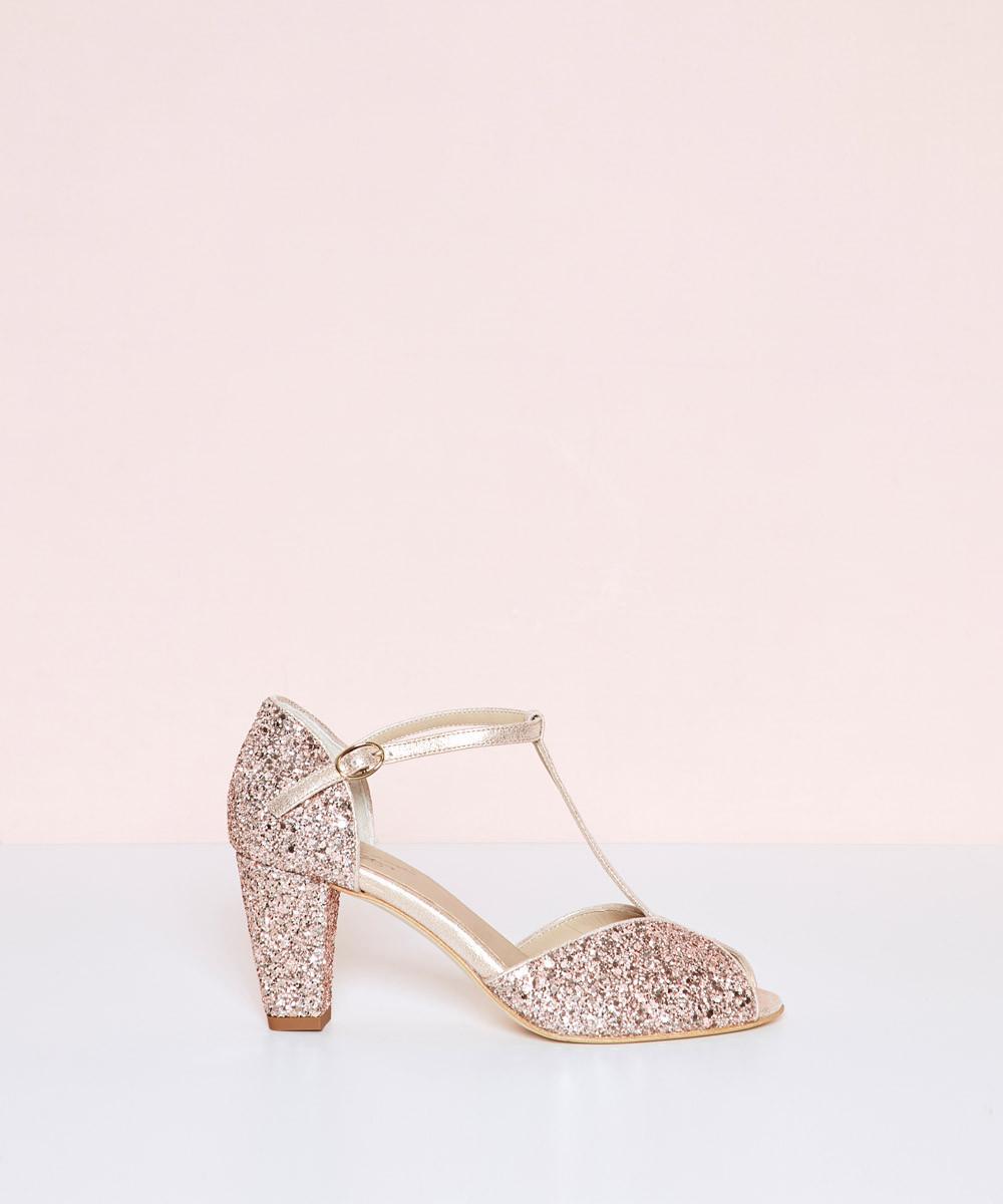 Glitter Butterfly Heel Sandal