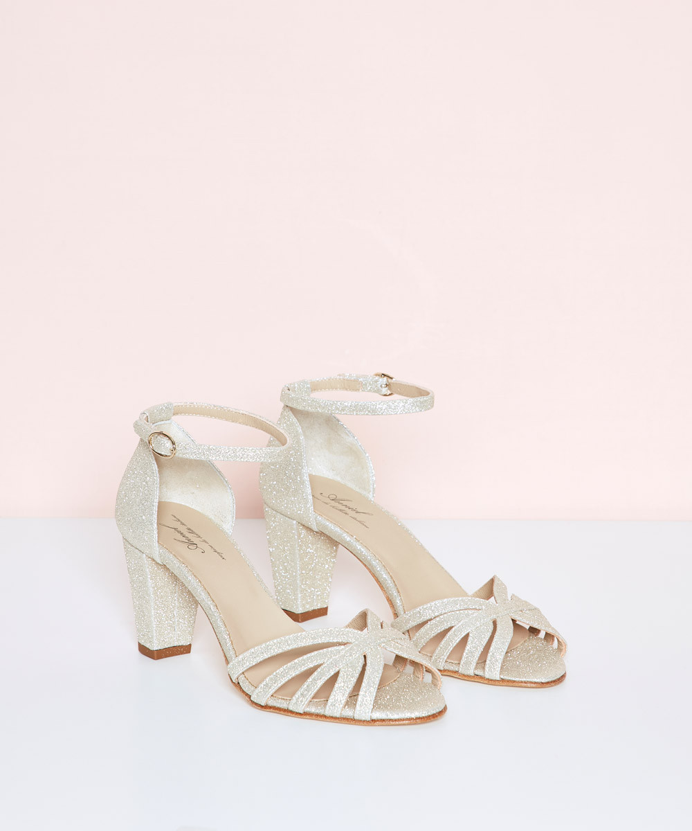 Sandalia tacón purpi