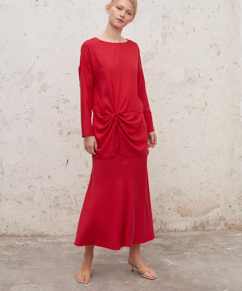 Falda al Bies Roja