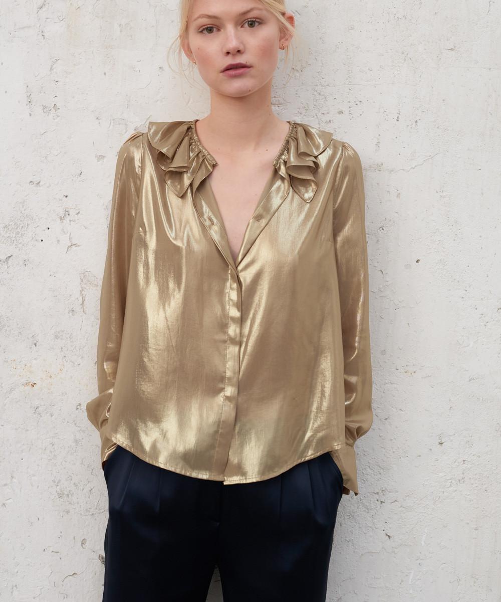 Blusa Foil Oro