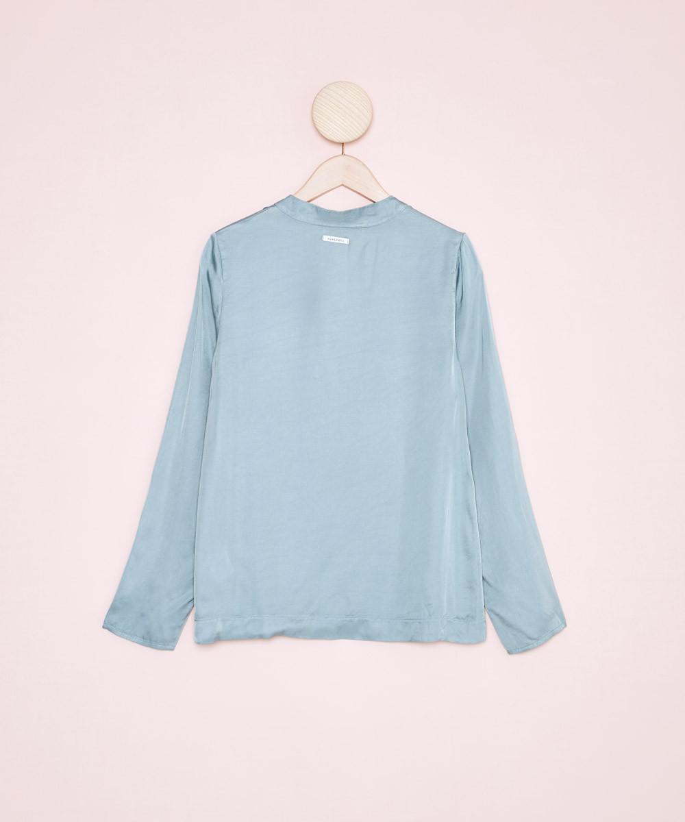 Blusa Satinada Azul