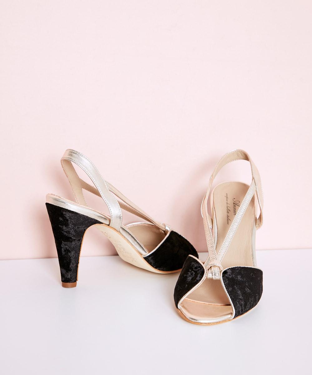 Zapato Vintage Terciopelo