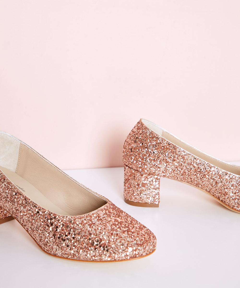 Zapato Purpi Coral Dorado...