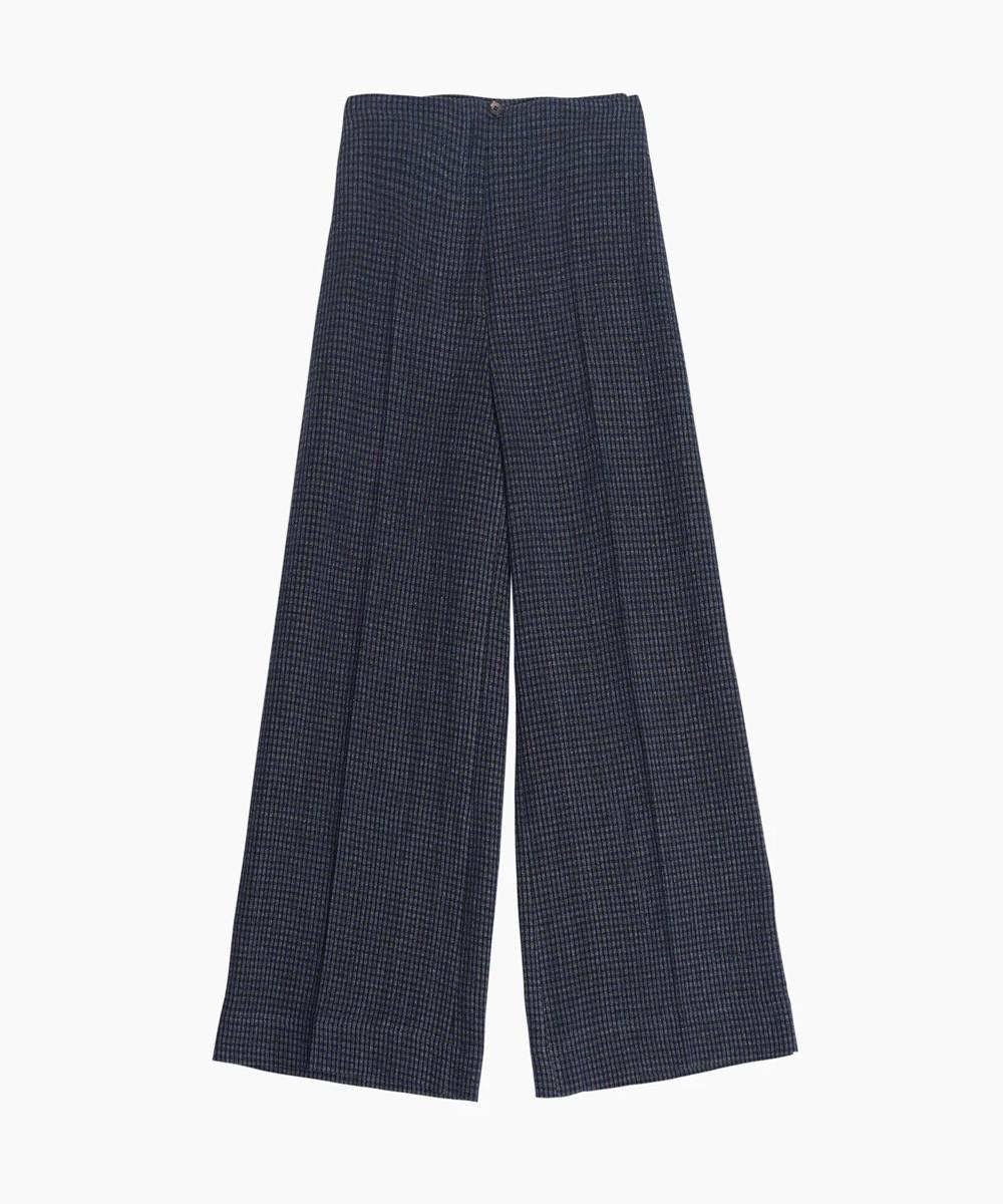 Pantalón Culotte Cuadros Azul
