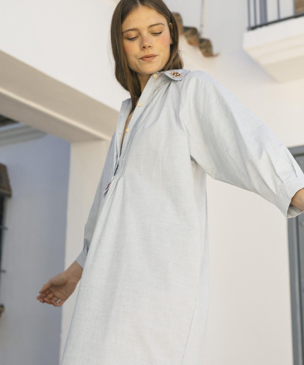Vestido Oxford Laurent