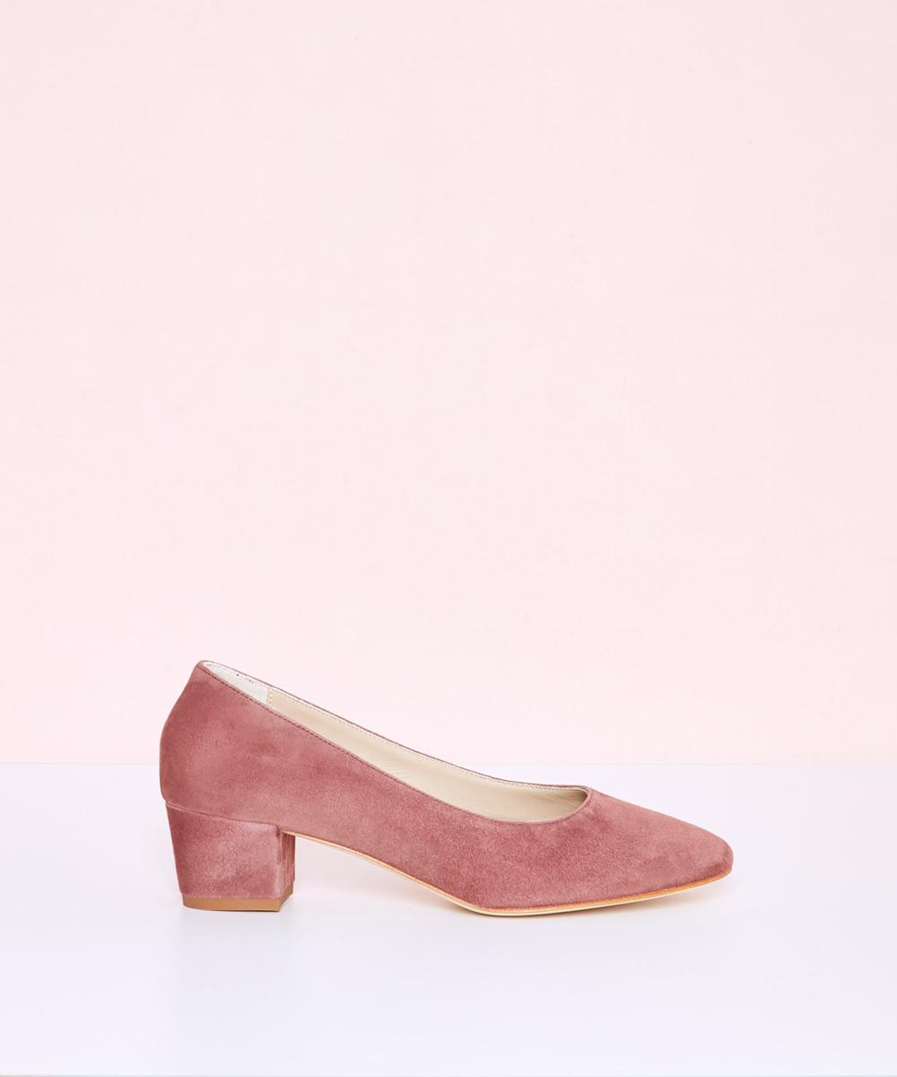 Zapato Rosa Ante Tacón - La...