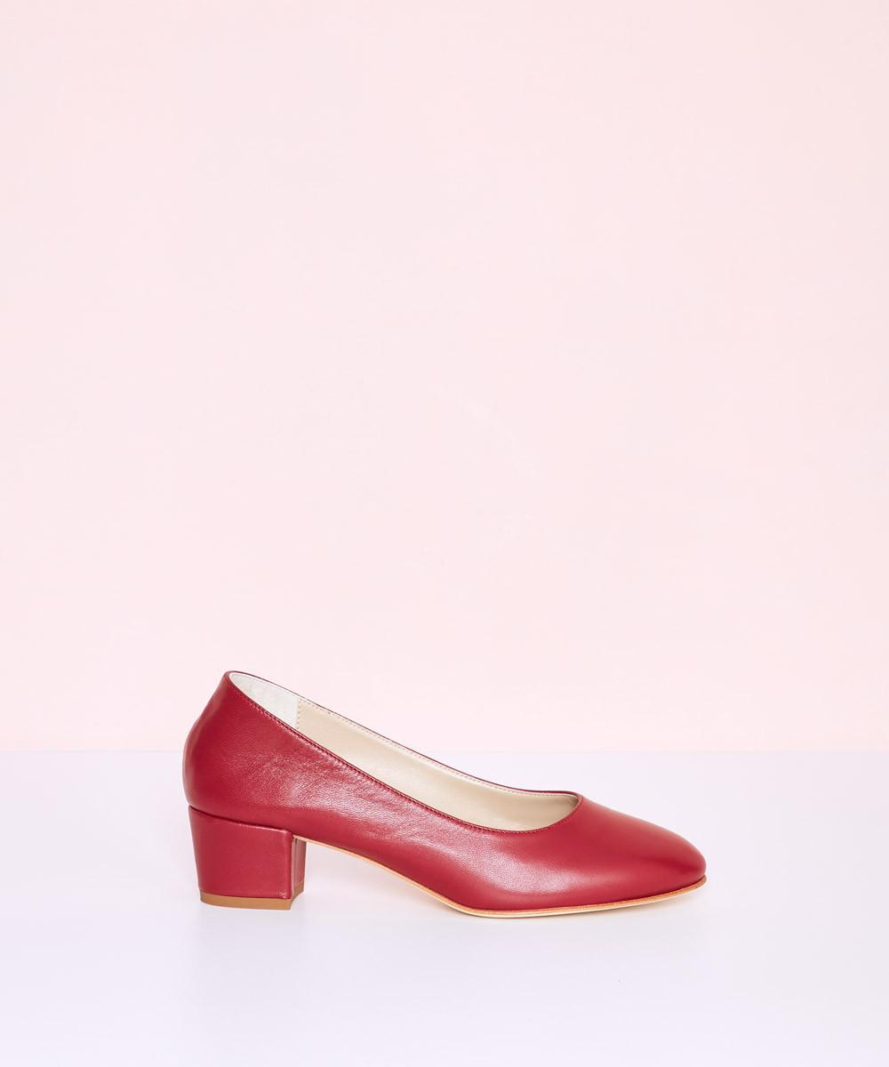 Zapato Piel Tacón - La...
