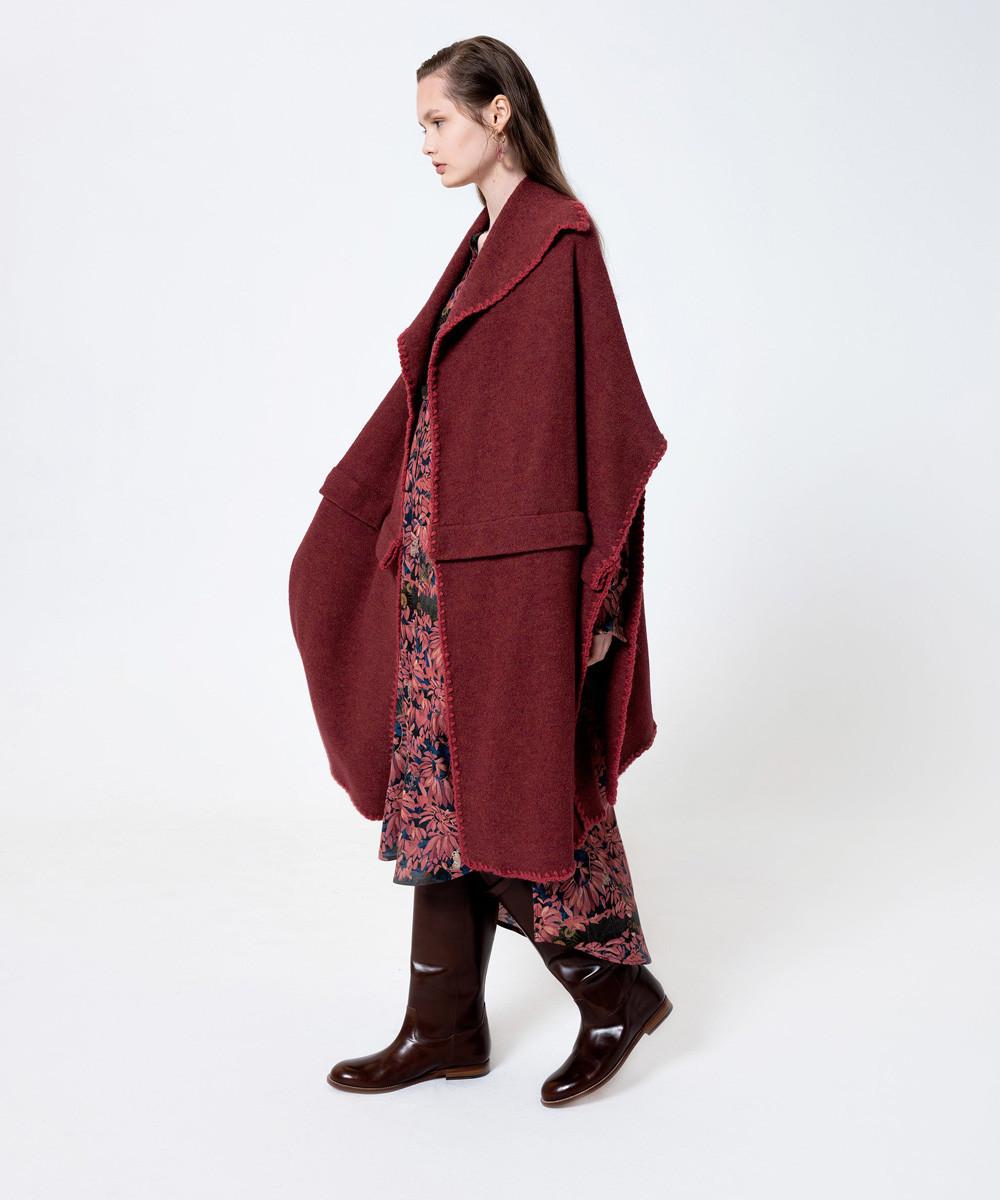 Abrigo Capa Liso Rojo